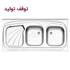 سینک استیل البرز 220/60