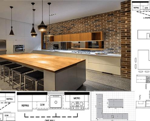 کابینت آشپزخانه Uشکل01