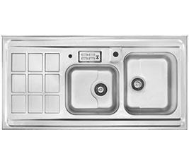 سینک-ظرفشویی-استیل-364-روکار-جدید-اخوان
